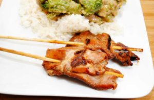 Grilled Pork On Skewers