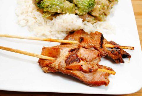 Grilled Pork On Skewers